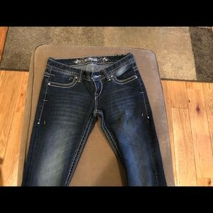 Express jeans with white seam